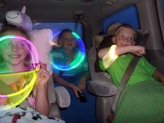 Take your trip with Glamulet charmsI love the idea of glow sticks and necklaces for that middle of the night drive to Disney. Like a nightlight for my daughter to play with if she wakes in the middle of the night. Road Trip With Kids, Family Road Trips, Travel With Kids, Family Vacations, Family Travel, Road Trip Activities, Road Trip Games, Indoor Activities, Summer Activities