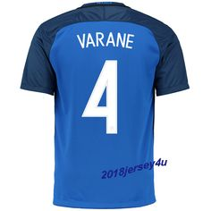 Raphael Varane 4 UEFA Euro 2016 France Home Jersey