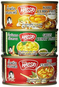 6 Can 4oz Each of Thai Green Red Yellow Curry Pastes Set -- Check out the image by visiting the link.Note:It is affiliate link to Amazon.
