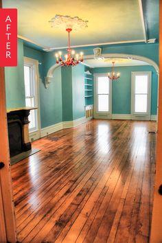 New Kitchen Ideas Vintage Color Schemes Teal Ideas House Color Schemes, Paint Colors For Home, Trendy Living Rooms, Living Room Colors, Bright Homes, House Painting, House, Living Room Paint, Vintage Color Schemes