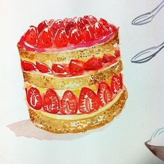 Working on a new book project #fraisier #patisserie