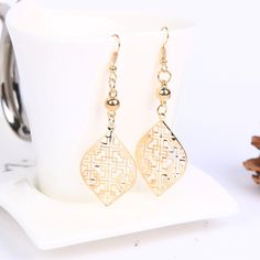 Gold Plated Leaf Shaped Choker Necklace & Earring Set for Girls Party. Leaf Jewelry, Jewellery, Arrow Necklace, Pendant Necklace, Leaf Pendant, Leaf Shapes, Earring Set, Chokers, Fashion Jewelry