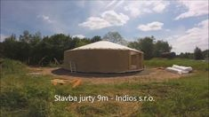 Stavba jurty 9m - Indios stany