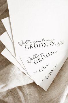 Wedding - Groomsman Proposal - Stationery - Invitation - Invite - Groom - Bridal - Bride - Graphic Designer Invite, Invitations, Be My Groomsman, Groomsmen Proposal, Stationery, Wedding Inspiration, Place Card Holders, Graphic Design, Photo And Video