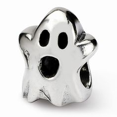 Sterling Silver Reflections Kids Halloween Ghost Bead Charm.  Ref# QG-QRS782.  Goldex Fine Jewelry ~ (323) 726-7181.