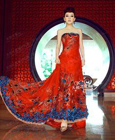 chinese mixed wedding dress