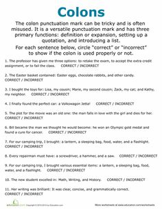 colon worksheets grammar pinterest worksheets literacy and school. Black Bedroom Furniture Sets. Home Design Ideas