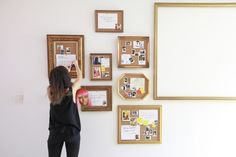 Make Your Own Cute Cork Board - And voila, you have a custom cork board that is way cooler than all your friends' cork boards! If you're making a gallery wall like we did for one of our client's offices, chose several different shapes, sizes, and designs. More is more. - @Homepolish New York City
