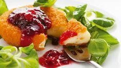 Camembert Crujiente con Mermelada de Cereza