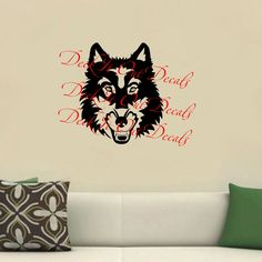 Wolf Vinyl decal ....E00031 by DeckItOutDecals on Etsy