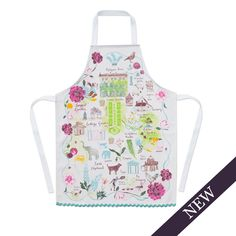 Part of a collection of home textiles featuring illustrations created exclusively for Highgrove, this stylish apron is inspired by the wonderful plants, flowers and architectural features that characterise the royal gardens. Special areas such as The Stumpery, Sundial Garden and Wildflower Meadow are captured in a stunning illustrative map, created by artist Josie Shenoy.Josie's distinctive style combines with a subtle colour palette to offer a lovely and practical addition to your…