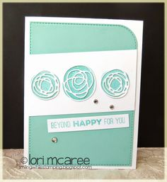 Smiling while Stamping: Beyond Happy handmade card using My Favorite Things Circle Scribble Flowers and Totally Happy stamp set, Scribble die-namics