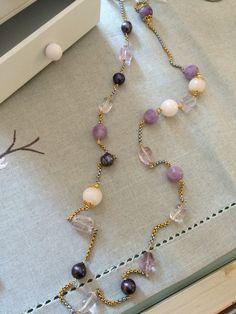 Lilac&quarz #necklace #ametist #silverandgold #quarz #ametist #handmade #jewels