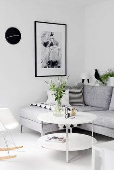 White & Grey Living Room