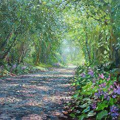 Sunlit Lane by Mark Preston