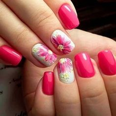 Are you looking for the best nail art? Today we have some of the best nail art designs in there are some magical nails! These nails… Flower Nail Designs, Best Nail Art Designs, Nail Designs Spring, Cute Nail Colors, Fall Nail Colors, Nail Polish Colors, Manicure, Diy Nails, Cute Nails