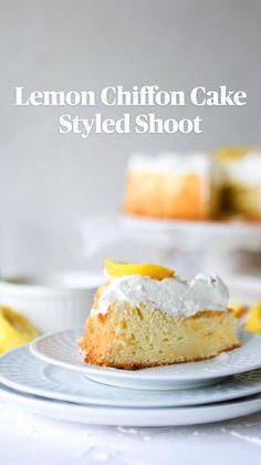 Easy Pie Recipes, Cupcake Recipes, Cookie Recipes, Snack Recipes, Dessert Recipes, Snacks, Lemon Desserts, Delicious Desserts, Lemon Chiffon Cake