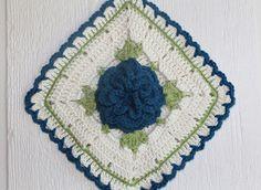 Teal Vintage Rose Potholder   Flickr - Photo Sharing!