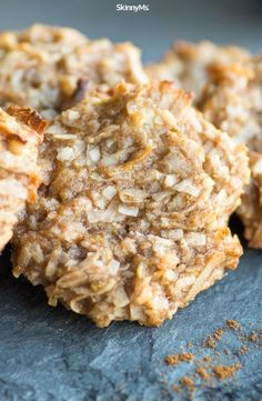 These Coconut Banana Paleo Cookies are so delicious. No white flour, butter, and refined sugar added. The perfect treat! #skinnyms