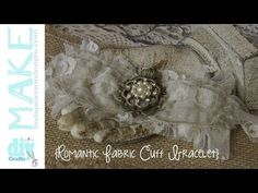 Easy to sew romantic lace cuff bracelet - YouTube