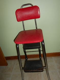 Beautiful Step Stool with Padded Seat