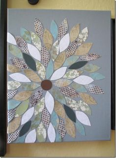 scapebook paper pictures on canvas | got this idea from a post I saw on pinterest and the idea is pretty ...