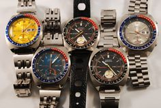 Fantastic vintage Seiko design.  I want this collection to be mine...all mine.