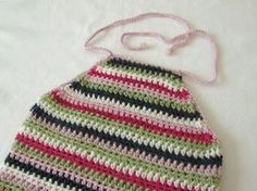 How to crochet an EASY halter neck top - any size - YouTube