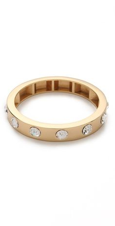 Loving this edgy yet glam bangle.