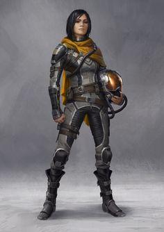 Science Fiction — dtk-womenwarriors:   ART BY MITCH MOHRHAUSER Part...