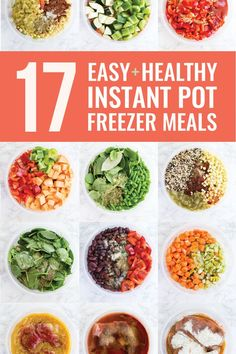 17 Easy and Healthy Instant Pot Freezer Meals Do you want to simplify your dinner routine? Stock your freezer with Instant Pot freezer meals! Here are 17 easy and healthy Instant Pot freezer meals that I made myself (shopping list included! Healthy Freezer Meals, Dump Meals, Make Ahead Meals, Healthy Meal Prep, Easy Meals, Healthy Eating, Healthy Recipes, Freezer Cooking, Easy Cooking