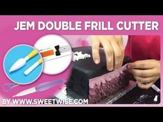 JEM Double Frill Cutter by www.sweetwise.com Cake Decorating Tutorials, Cookie Decorating, Cupcake Cookies, Cupcakes, Fondant Decorations, Ruffle Cake, Fondant Tutorial, Fondant Molds, Sugar Craft