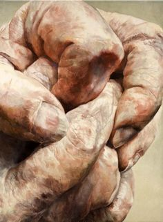 """Shirley Faktor: Handpainted oil on canvas, """"These contemporary oil paintings of a human hand, by Faktor, are really some of the most powerful I have ever seen!"""" ~js [See my board: Art, by Shirley Faktor) Figure Painting, Figure Drawing, Painting & Drawing, A Level Art, Gcse Art, Hand Art, Human Condition, Life Drawing, Figurative Art"""