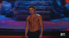 The Only Thing You Need To See From The MTV Movie Awards Is Zac Efron's Shirt Getting Ripped Off