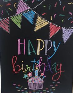 Birthday Cake Messages, Happy Birthday Notes, Happy Birthday Images, Happy Birthday Wishes, Birthday Quotes, Birthday Greetings, Happy Birthday Chalkboard, Happy Bird Day, Cartoon Girl Images