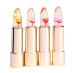 Gold foil flower jelly lipstick by Kailijumei