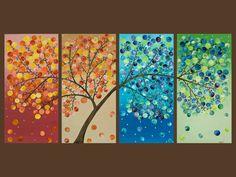 Seasonal landscape painting from etsy.com