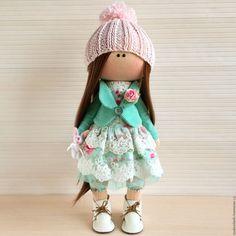 Купить Интерьерная кукла. - бирюзовый, интерьерная кукла, коллекционная кукла, авторская ручная работа