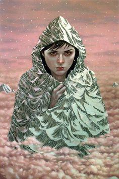 """Casey Weldon  """"Mt. Hood (Winter)""""  20"""" x 30""""  Acrylic on Wood  $1300"""