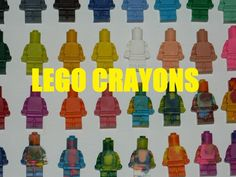 Hey Folks, Here is a quick an simple way to recycle old crayons (or use new ones) to make really cool lego crayons. A friend recently made some of these as a...
