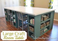 CRAFT TABLE...this would be awesome if I could do this in the storage area as an art table for kids n crafts for me!
