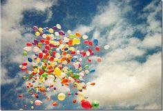 ballons make me feel happy