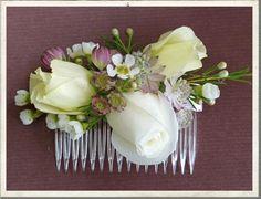 wedding flower comb, vintage china, vintage wedding flowers, vintage bridal ideas