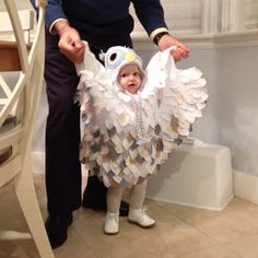 Baby was Harry Potter's owl Hedwig for Halloween this year. Making her owl costume was so fun.