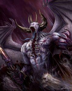 Belakor the First Daemon Prince by luffie.deviantart.com on @deviantART