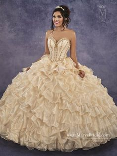 Mary's Bridal Princess Collection Quinceanera Dress Style 4Q499