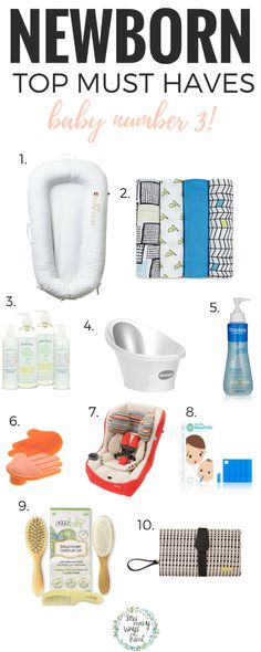 Newborn top must haves! Baby number 3 not the way so I added a few extras. Add them to your baby registry! via @sewmanywayskimi