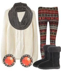 Cute fall outfit for lounging around watching movies and drinking hot chocolate........super comfy