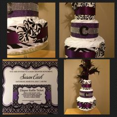 Hey, I found this really awesome Etsy listing at https://www.etsy.com/listing/197792343/diaper-cake-baby-girl-diaper-cake-purple