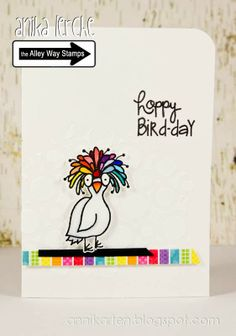 Annikarten: The Alley Way Blog Hop The Alley Way Stamps: Birds of a feather